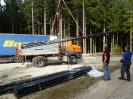 Bau Flutlichtanlage